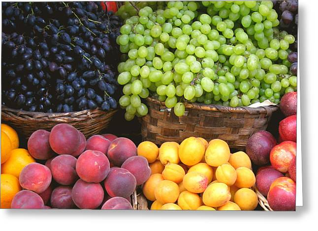 Betsy Moran Greeting Cards - Provencal Fruit Greeting Card by Betsy Moran