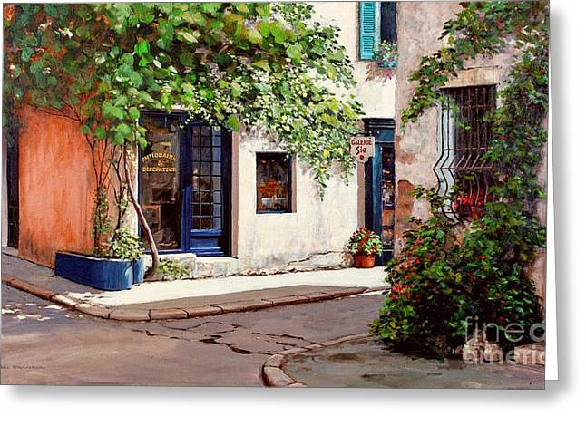 Provence Antiques Greeting Card by Michael Swanson