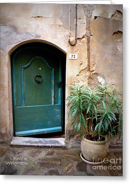 Lainie Wrightson Greeting Cards - Provence Door 72 Greeting Card by Lainie Wrightson