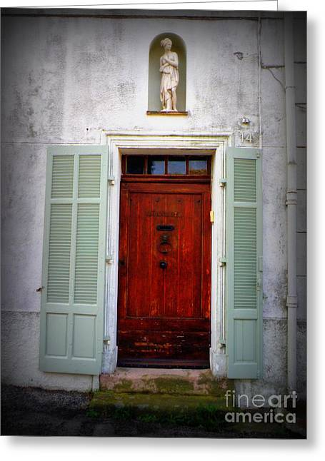 Provence Door Number 14 Greeting Card by Lainie Wrightson
