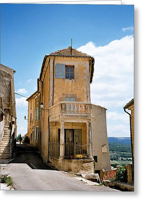 Provence Village Greeting Cards - Provence House Greeting Card by Kim Lessel