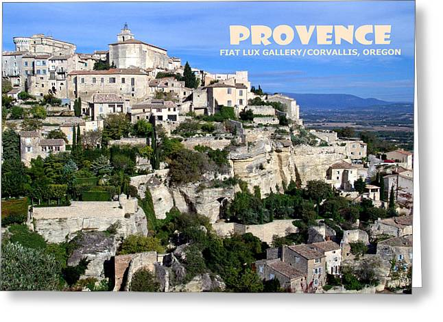 Provence Village Greeting Cards - Provence II Greeting Card by Mike Moore FIAT LUX