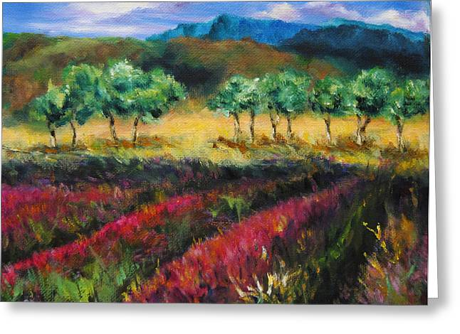 Diane Kraudelt Greeting Cards - Provence In Summer Greeting Card by Diane Kraudelt