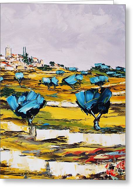 Victoire Paintings Greeting Cards - Provence Greeting Card by Atelier De  Jiel