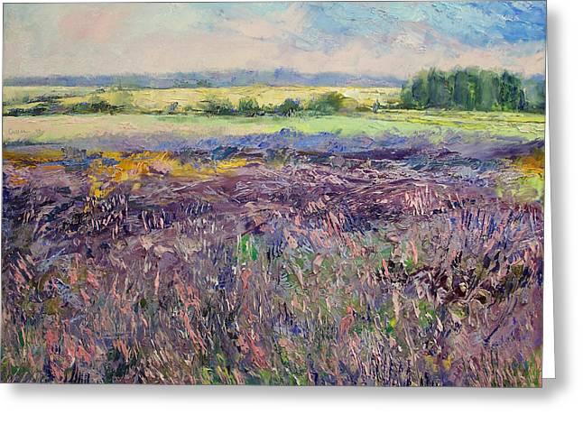 Lavendar Greeting Cards - Provence Lavender Greeting Card by Michael Creese