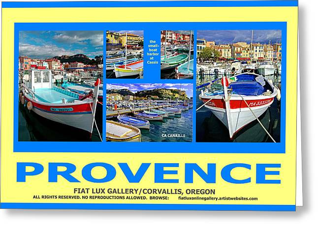 Provence Village Greeting Cards - Provence Poster Greeting Card by Mike Moore FIAT LUX