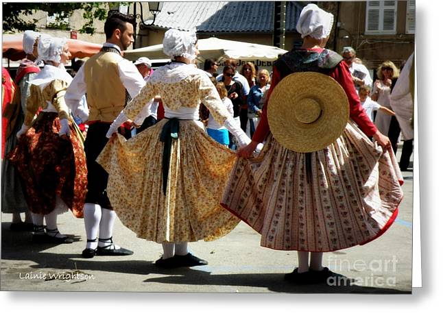 Provence Traditional Dance Greeting Card by Lainie Wrightson