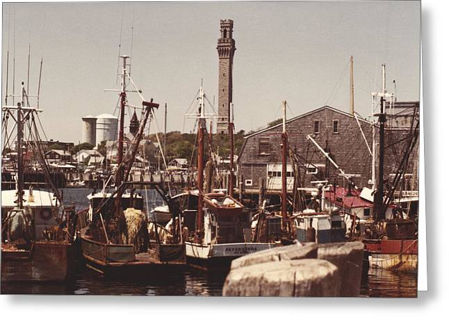 Cape Cod Mass Greeting Cards - Provincetown Harbor Greeting Card by Robert Estes