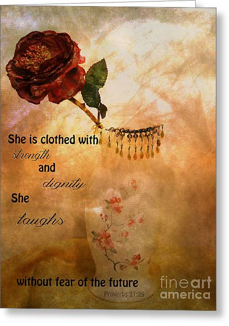 Virtuous Greeting Cards - Proverbs 31 Woman Greeting Card by Beverly Guilliams