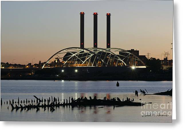 Chromatic Photographs Greeting Cards - Providence Harbor III Greeting Card by David Gordon