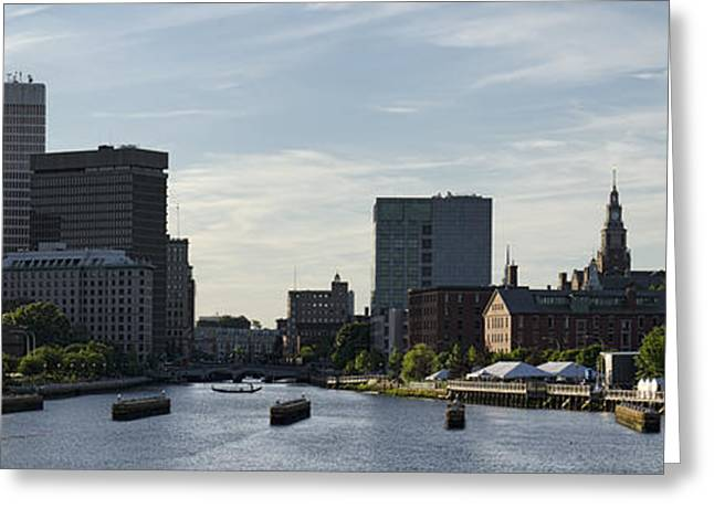 Dave Greeting Cards - Providence Panorama I Greeting Card by David Gordon