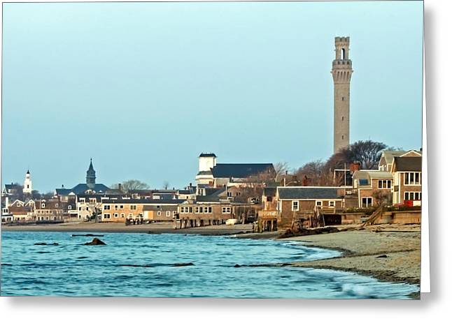 Provincetown Greeting Cards - Provincetown Bay and Monument Greeting Card by Frank Winters