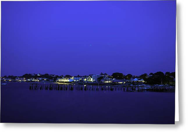 Ptown Greeting Cards - Provincetown Blue Hour Greeting Card by Art K