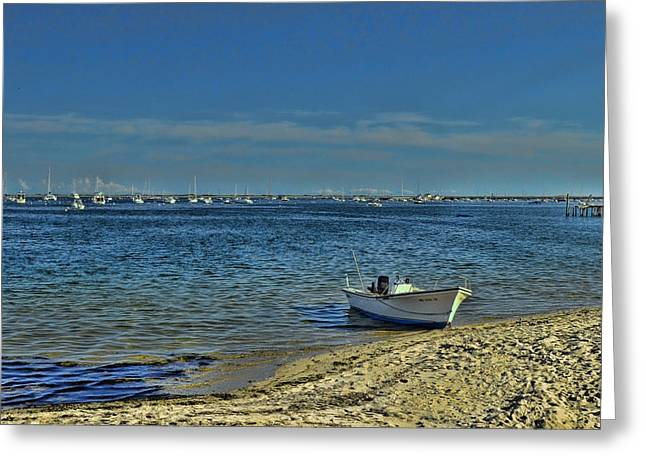 Recently Sold -  - Boats In Harbor Greeting Cards - Provincetown Harbor 2 Greeting Card by Allen Beatty
