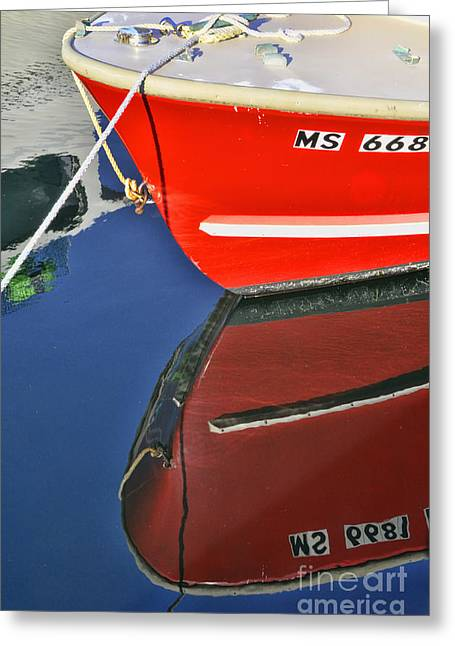 Provincetown Harbor Reflection Greeting Card by Allen Beatty