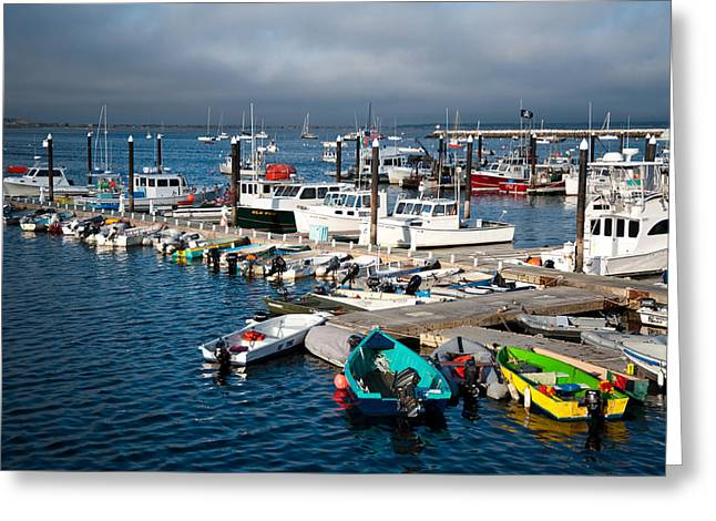 Recently Sold -  - New England Ocean Greeting Cards - Provincetown Piers Greeting Card by Zina Zinchik