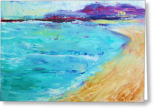 Cape Cod Mass Paintings Greeting Cards - Provincetown Rocky Beach Greeting Card by Maria Milazzo