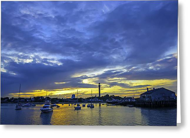 Ptown Greeting Cards - Provincetown Sunrise Greeting Card by Art K