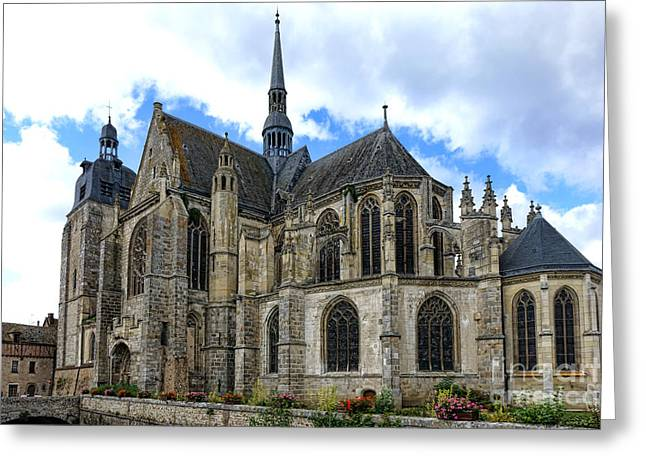 Medieval Architecture Greeting Cards - Provincial Church in France Greeting Card by Olivier Le Queinec