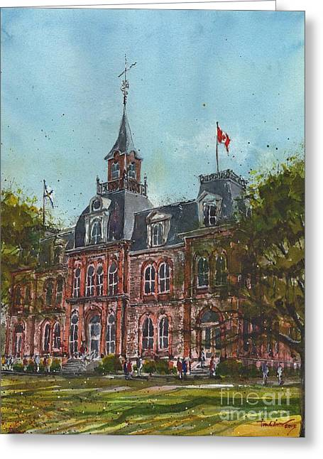 Normal School Greeting Cards - Provincial Normal School Greeting Card by Tim Oliver