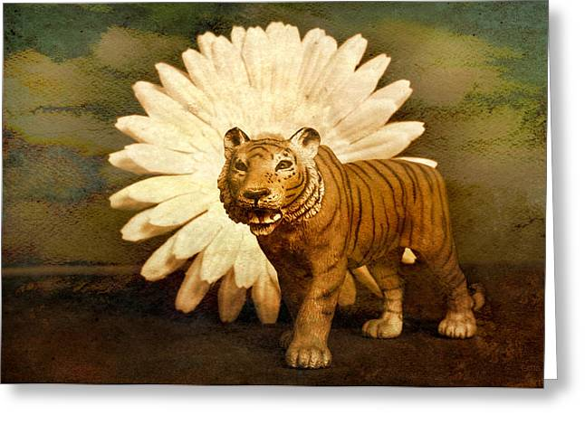 Contemporary Symbolism Greeting Cards - Prowling Greeting Card by Jeff  Gettis