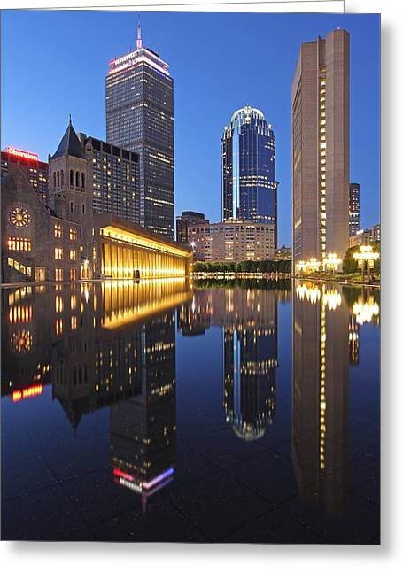 Prudential Center At Night Greeting Card by Juergen Roth