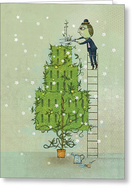 Dennis Wunsch Greeting Cards - Pruning 1 Greeting Card by Dennis Wunsch