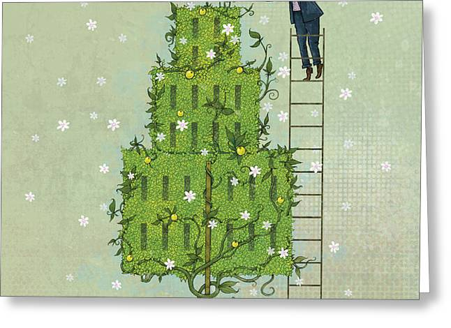 Pruning 1 Greeting Card by Dennis Wunsch