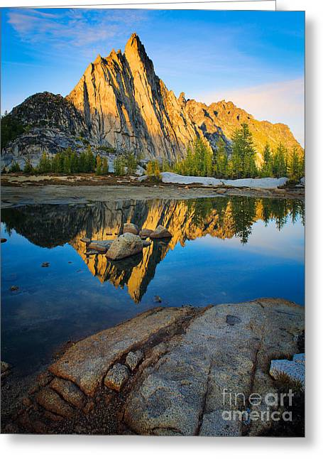 Geology Photographs Greeting Cards - Prussik Sunset Greeting Card by Inge Johnsson
