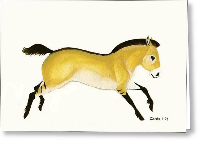 Lori Ziemba Greeting Cards - Przewalskis Horse Greeting Card by Lori Ziemba