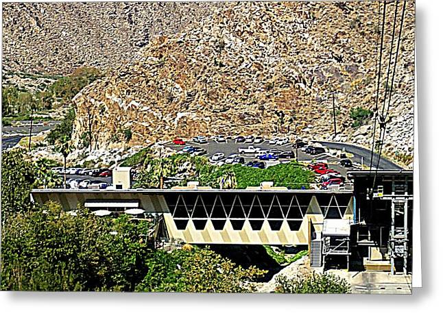 Aerial Tramway Greeting Cards - PS Aerial Tram 1 Greeting Card by Ron Kandt