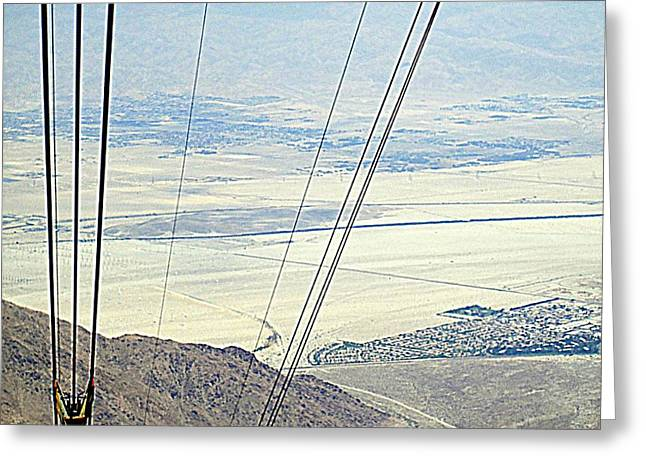 Aerial Tramway Greeting Cards - PS Aerial Tram 13 Greeting Card by Ron Kandt