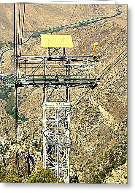 Aerial Tramway Greeting Cards - PS Aerial Tram 17 Greeting Card by Ron Kandt