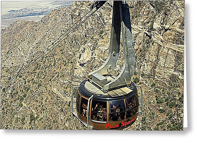 Aerial Tramway Greeting Cards - PS Aerial Tram 18 Greeting Card by Ron Kandt