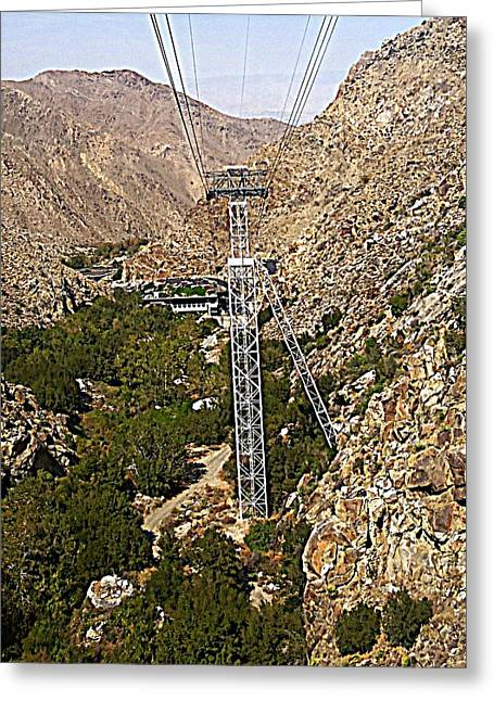 Aerial Tramway Greeting Cards - PS Aerial Tram 19 Greeting Card by Ron Kandt