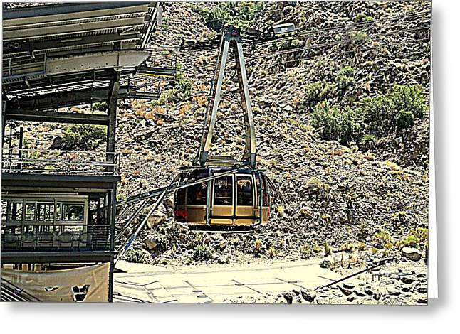 Aerial Tramway Greeting Cards - PS Aerial Tram 2 Greeting Card by Ron Kandt