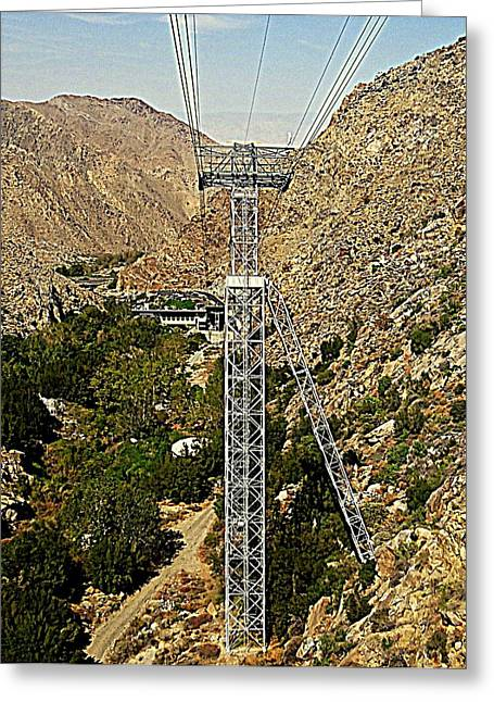 Aerial Tramway Greeting Cards - PS Aerial Tram 20 Greeting Card by Ron Kandt