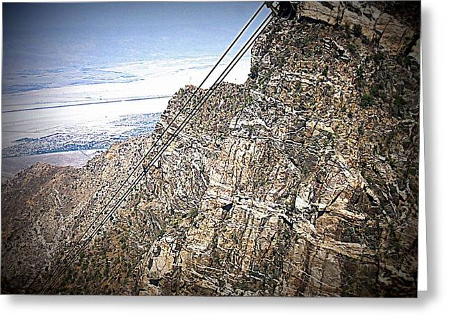 Aerial Tramway Greeting Cards - PS Aerial Tram 21 Greeting Card by Ron Kandt