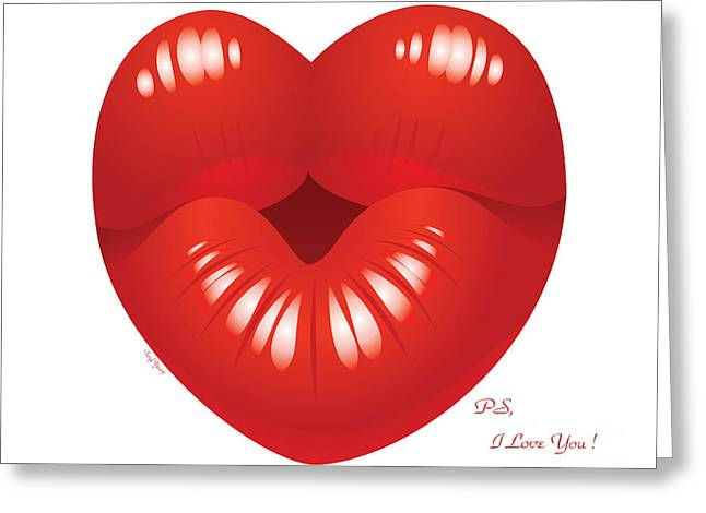Ps Greeting Cards - Ps I Love You Greeting Card by Cheryl Young