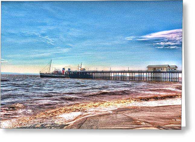 Ps Waverley At Penarth Pier 2 Greeting Card by Steve Purnell