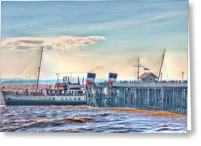 Ps Waverley At Penarth Pier Greeting Card by Steve Purnell