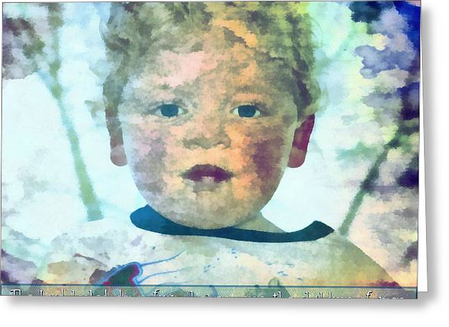 Man Looking Down Digital Greeting Cards - Psalm 14 2 Greeting Card by Michelle Greene Wheeler