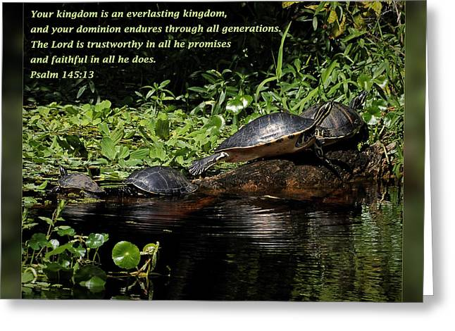 Thank You Greeting Cards - Psalm 145 13 Greeting Card by Dawn Currie
