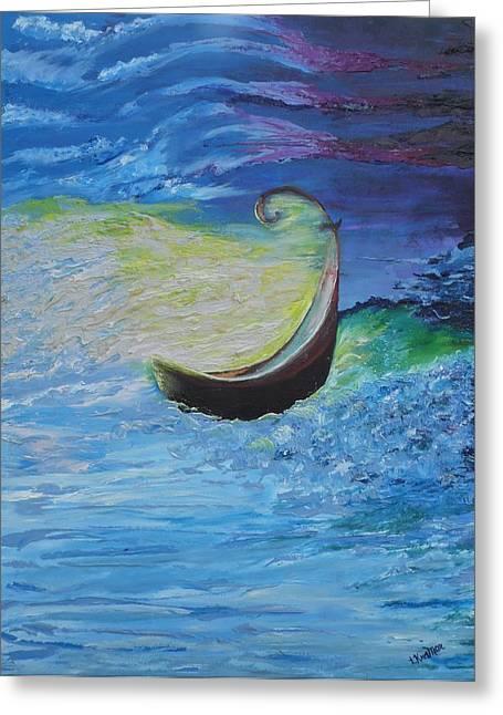 My Ocean Paintings Greeting Cards - Psalm 23- 4 Greeting Card by Lisa Kramer