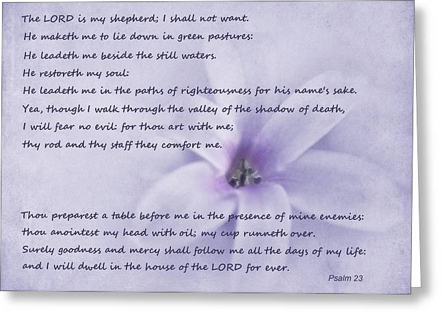 Bible Verse Greeting Cards - Psalm 23 Greeting Card by David and Carol Kelly