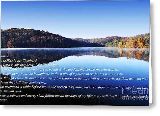 Psalm 23 Greeting Card by Thomas R Fletcher