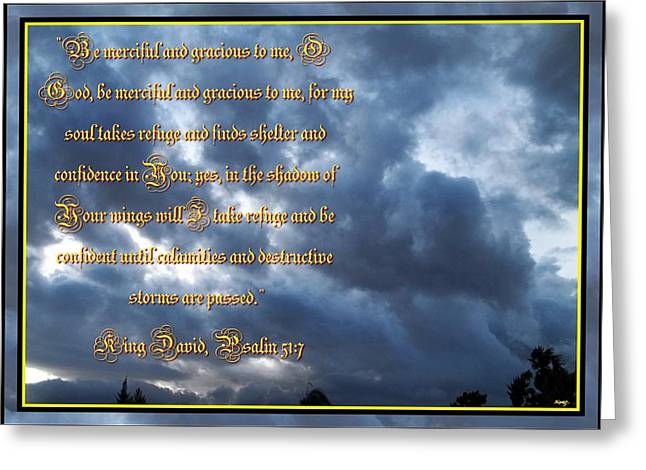 Glorify Greeting Cards - Psalm 57 One Greeting Card by Glenn McCarthy Art and Photography
