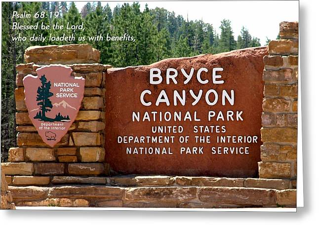 Kingjames Greeting Cards - BRYCE CANYON N. P.  Psalm 68-19 Greeting Card by Nelson Skinner