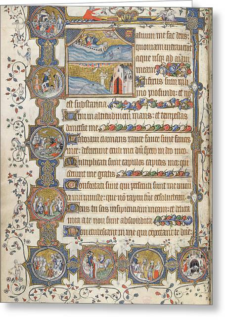 Psalm 68; Jonah Greeting Card by British Library