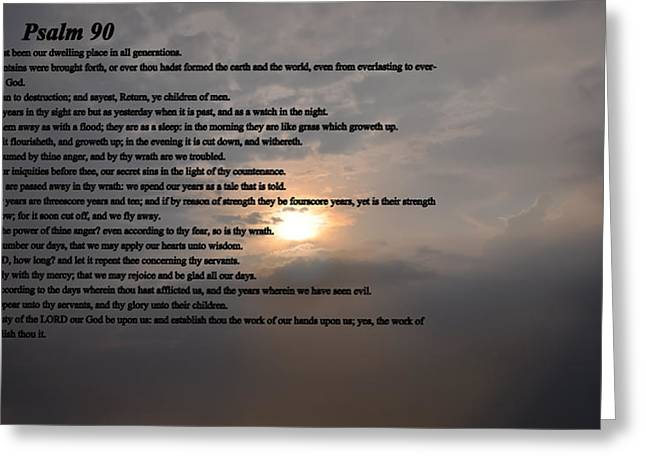 King James Greeting Cards - Psalm 90 Greeting Card by Bill Cannon